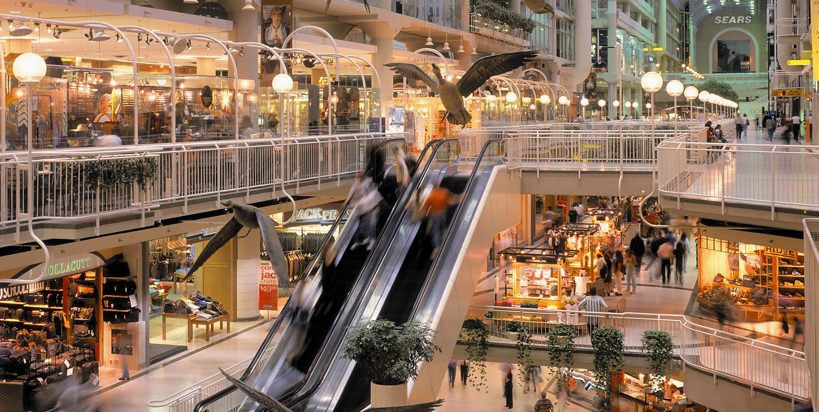The following is a list of shopping malls in Toronto, Ontario, Canada. The first enclosed shopping mall in Toronto was the Toronto Arcade in the downtown core. The first shopping mall of the enclosed, automobile-centred design type was Yorkdale Shopping Centre, opened in